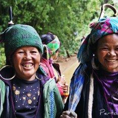 Etnias en Sapa, Vietnam.