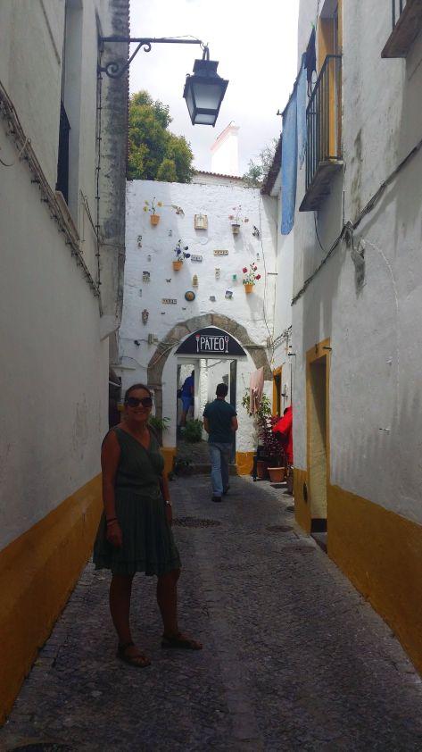 Calles de Evora con Isa