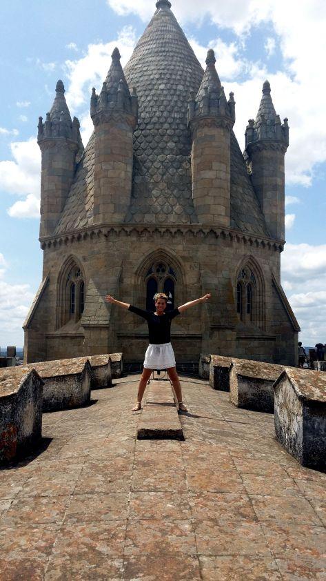 Tejado de l catedral de Evora