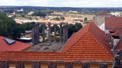 Vistas desde la Catedral de Evora